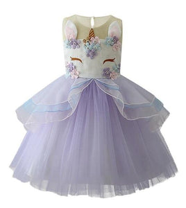 Jordyn Unicorn Princess Dress, Purple, 2T - CeCe & Jax