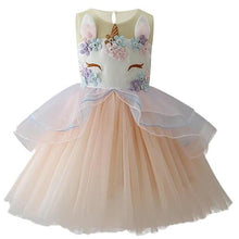 Load image into Gallery viewer, Jordyn Unicorn Princess Dress, Cream, 2T - CeCe & Jax