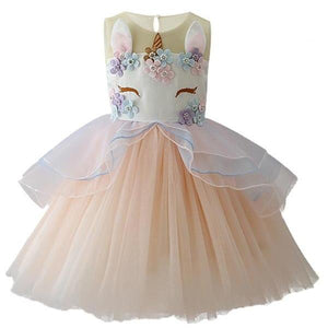 Jordyn Unicorn Princess Dress, Cream, 2T - CeCe & Jax