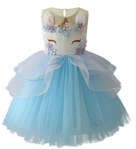 Jordyn Unicorn Princess Dress, Blue, 2T - CeCe & Jax