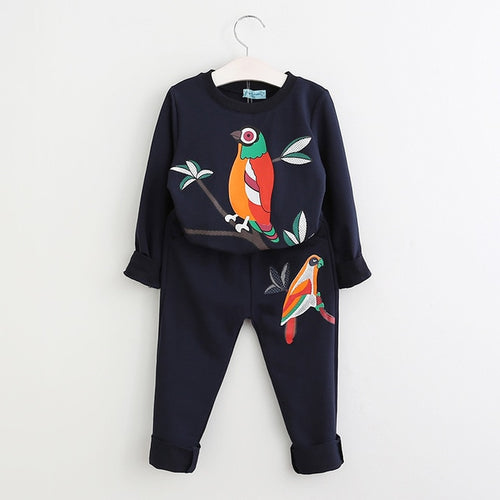 Bird Branch Sweatsuit, Black, 3T - CeCe & Jax