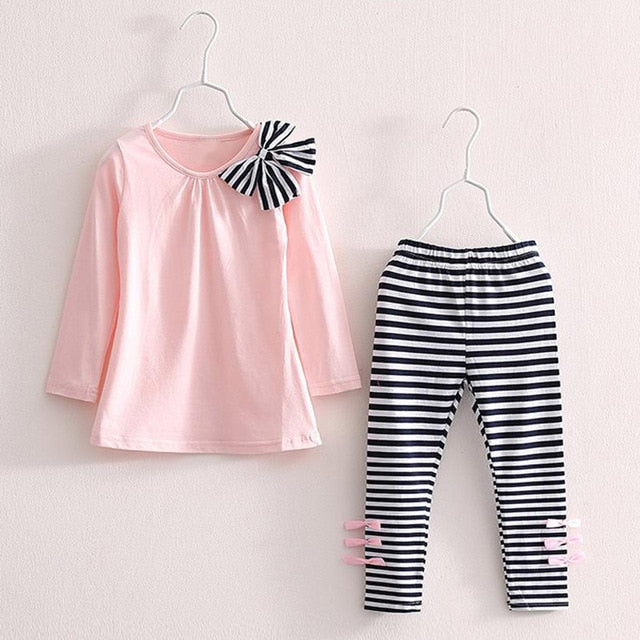 Hannah Striped Top & Leggings Set, Pink, 3T - CeCe & Jax