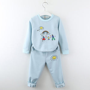 Art Time Sweatsuit, Baby Blue, 2T - CeCe & Jax