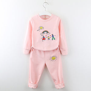 Art Time Sweatsuit, Pale Pink, 2T - CeCe & Jax