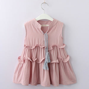 Macy Tassel Dress, Pale Pink, 3T - CeCe & Jax