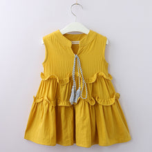 Load image into Gallery viewer, Macy Tassel Dress, Mustard, 3T - CeCe & Jax