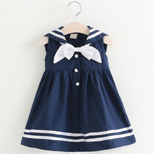 Load image into Gallery viewer, Sweetie Sailor Dress, Navy, 2T - CeCe & Jax