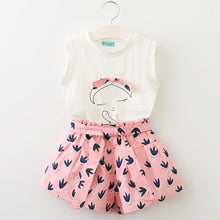 Load image into Gallery viewer, Baby Bird Top & Shorts Set, Pink, 3T - CeCe & Jax