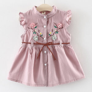Nikita Flower Dress, Pale Pink, 12M - CeCe & Jax