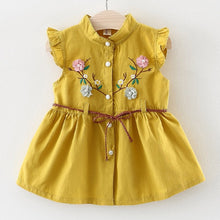 Load image into Gallery viewer, Nikita Flower Dress, Buttercup, 12M - CeCe & Jax
