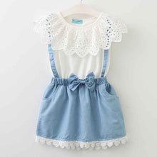 Load image into Gallery viewer, Marilyn Collar & Denim Dress, 3T,  - CeCe & Jax