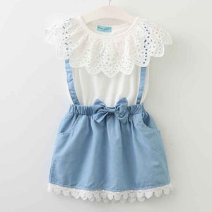 Marilyn Collar & Denim Dress, 3T,  - CeCe & Jax