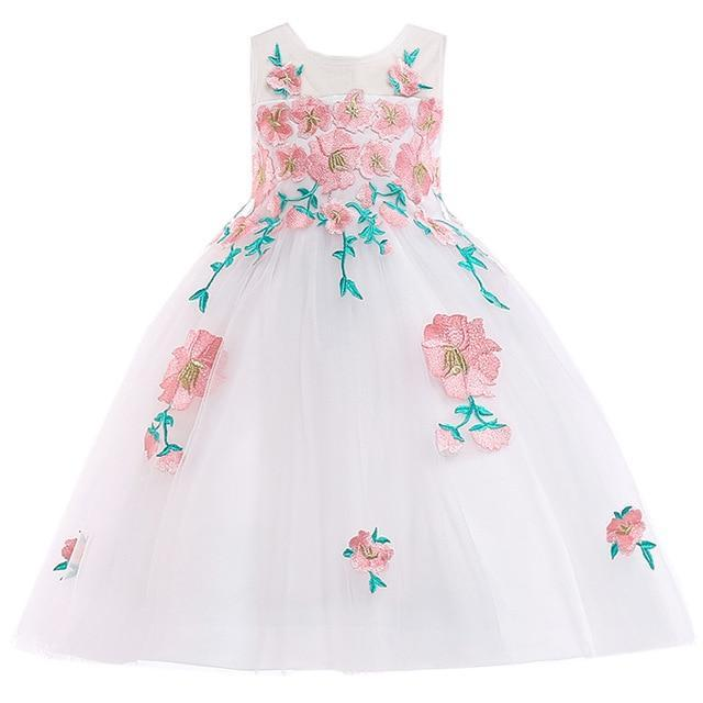 Gabrielle Floral Lace Dress, White, 4T - CeCe & Jax