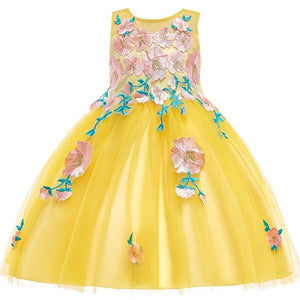 Gabrielle Floral Lace Dress, Yellow, 4T - CeCe & Jax