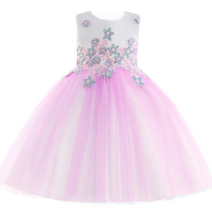 Cara Floral Lace Dress, Lavender, 4T - CeCe & Jax