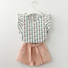 Load image into Gallery viewer, Pineapple Top & Shorts Set, Dusty Pink, 3T - CeCe & Jax