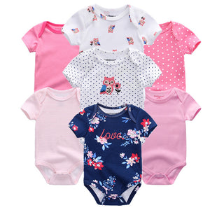 Zoomie Patterned Short Sleeve 7pc, Love, 3M - CeCe & Jax