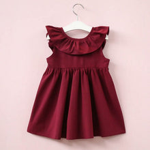 Load image into Gallery viewer, Keisha Bow Dress, Burgundy, 2T - CeCe & Jax