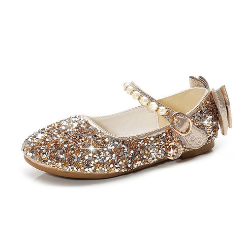 Crystal Glitter Party Flats, Gold, 13.5 - CeCe & Jax