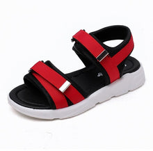 Load image into Gallery viewer, Joey Velcro Sandals, Red, 9.5 - CeCe & Jax