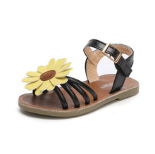 Load image into Gallery viewer, Josie Sunflower Sandals, Black, 6.5 - CeCe & Jax