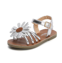 Load image into Gallery viewer, Josie Sunflower Sandals, Silver, 6.5 - CeCe & Jax
