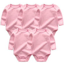 Load image into Gallery viewer, Zoomie Solid Long Sleeve 5pc Bodysuits, Pink, 3M - CeCe & Jax
