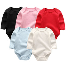 Load image into Gallery viewer, Zoomie Solid Long Sleeve 5pc Bodysuits, Multi Color, 3M - CeCe & Jax