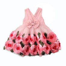 Load image into Gallery viewer, Rose Ring V-Neck Dress, 3T,  - CeCe & Jax