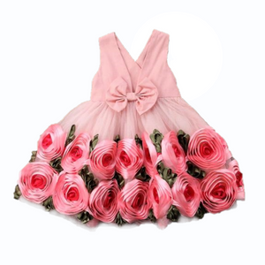 Rose Ring V-Neck Dress, 3T,  - CeCe & Jax