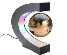 Load image into Gallery viewer, Okeebays Magnetic Levitating Desktop Globe Black And Gold With C Stand