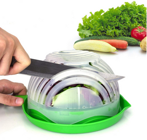 Okeegadgets Fruit and Vegetable Green Bowl Kitchen Gadget Chopped