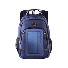 Load image into Gallery viewer, blue solar back pack okeegadgets