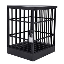 Load image into Gallery viewer, okeegadgets-closed-black-side-view-jail-cell-for-mobile-smart-devices-cool-gadgets-cheap-gag-gifts