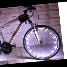 Load image into Gallery viewer, okeegadgets-led-bike-bicycle-RIM-lights-DETAIL-VIEW-WHITE-COLOR