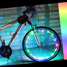 Load image into Gallery viewer, okeegadgets-led-bike-bicycle-RIM-lights-DETAIL-VIEW-MULTI-RAINBOW-COLOR