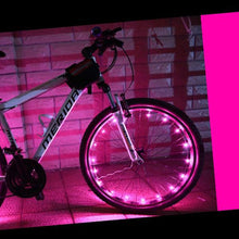 Load image into Gallery viewer, okeegadgets-led-bike-bicycle-RIM-lights-DETAIL-VIEW-PINK-COLOR