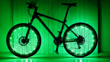 Load image into Gallery viewer, okeegadgets-colorful-led-bike-bicycle-RIM-lights-in-green-available-at-okeegadgets