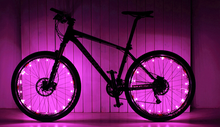 Load image into Gallery viewer, okeegadgets-colorful-led-bike-bicycle-RIM-lights-in-pink-available-at-okeegadgets