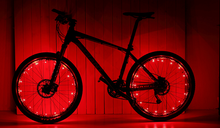 Load image into Gallery viewer, okeegadgets-colorful-led-bike-bicycle-RIM-lights-in-red-available-at-okeegadgets