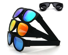 Load image into Gallery viewer, Okeegadgets polarized slap sunglasses main image blackblue, blackorange, blue okeegadgets travel outdoor personal care fitness