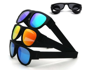 Okeegadgets polarized slap sunglasses main image blackblue, blackorange, blue okeegadgets travel outdoor personal care fitness