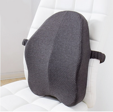 Load image into Gallery viewer, okeegadgets-gray-modelbeautrip-memory-foam-lumbar-back-support