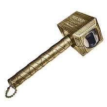 Load image into Gallery viewer, okeegadgets-hammer-of-thor-bottle-opener-gold-bronze-slanted-side-view