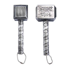 Load image into Gallery viewer, okeegadgets-hammer-of-thor-bottle-opener-titanium-silver-shown-on-side-back-view