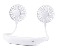 Load image into Gallery viewer, okeegadgets-mini-dual-sports-fan-WHITE-BACK-VIEW