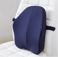Load image into Gallery viewer, okeegadgets-navy-model-beautrip-memory-foam-lumbar-back-support
