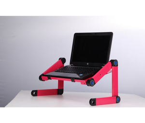 okeegadgets-adjustable-bendable-portable-laptop-desk-in-pink-shown-with-laptop