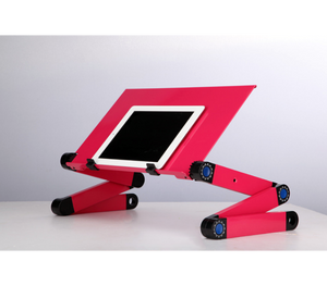 okeegadgets-adjustable-bendable-portable-laptop-desk-in-pink-shown-with-ipad-smart-tablet