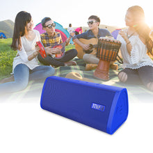 Load image into Gallery viewer, okeegadgets-portable-water-resistant-bluetooth-speaker-blue-version-with-festival-lifestyle-image